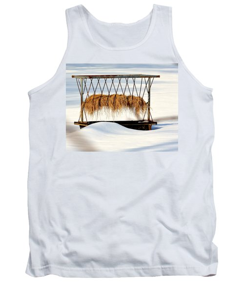 Hay Feeder In Winter Tank Top