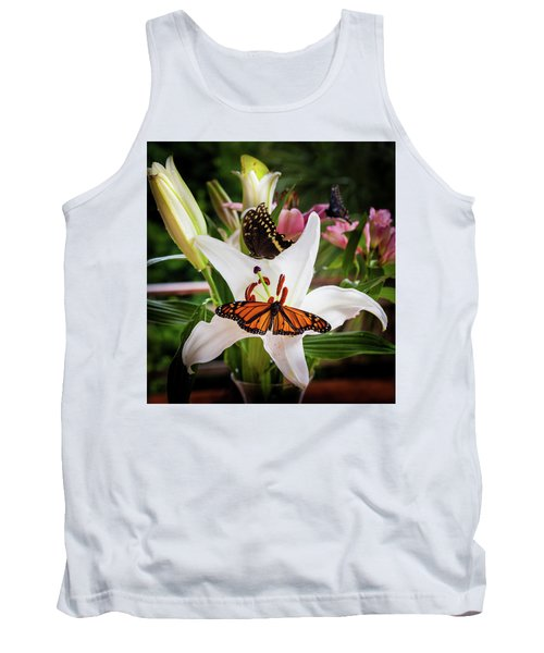 Tank Top featuring the photograph He Still Gives Me Butterflies by Karen Wiles