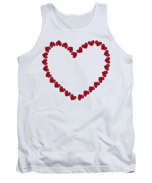 Heart From Red Hearts Tank Top by Frank Tschakert