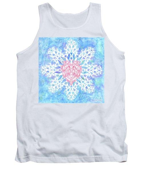 Heart In Snowflake Tank Top