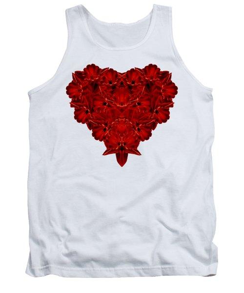 Heart Of Flowers T-shirt Tank Top by Edward Fielding