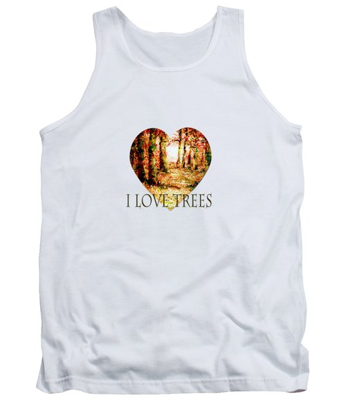 Heart Of The Forest-abstract Painting By V.kelly Tank Top