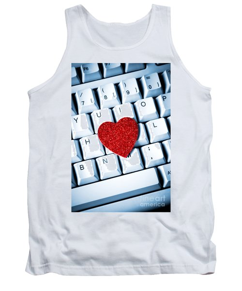Heart On Keyboard Tank Top