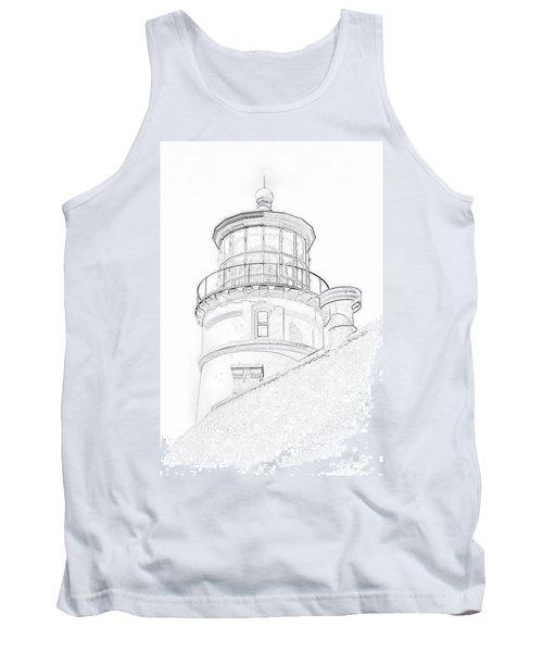Hecitia Head Lighthouse Sketch Tank Top
