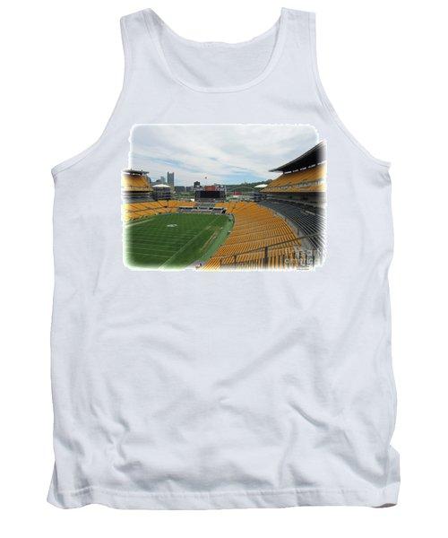 Heinz Stadium With Pittsburgh Skyline Tank Top
