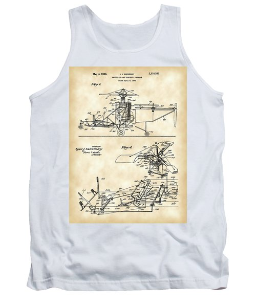 Helicopter Patent 1940 - Vintage Tank Top