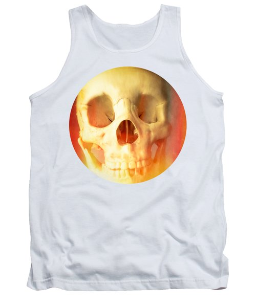 Hell Fire Skull Round Beach Towel Blanket Tank Top