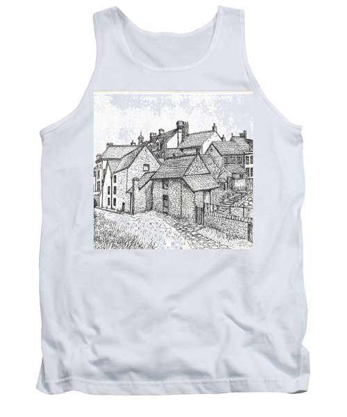 Tank Top featuring the drawing Hemsley Village - In Yorkshire England  by Carol Wisniewski