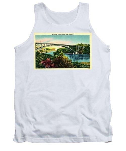 Henry Hudson Bridge Postcard Tank Top by Cole Thompson