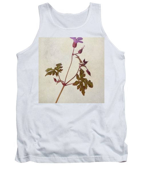 Herb Robert - Wild Geranium  #flower Tank Top