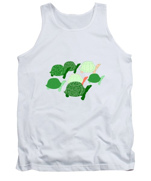 Herd Of Turtles Pattern Tank Top by Methune Hively