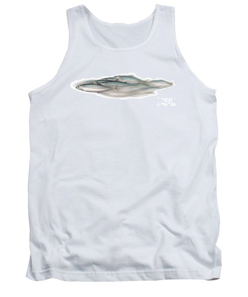 Herring School Of Fish - Clupea - Nautical Art - Seafood Art - Marine Art - Game Fish Tank Top