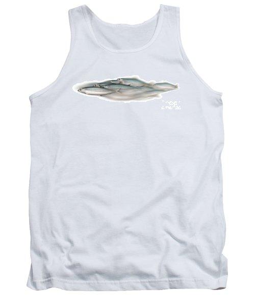 Herring School Of Fish - Clupea - Nautical Art - Seafood Art - Marine Art - Game Fish Tank Top
