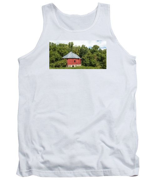 Tank Top featuring the photograph Hexagon Barn by Dan Traun