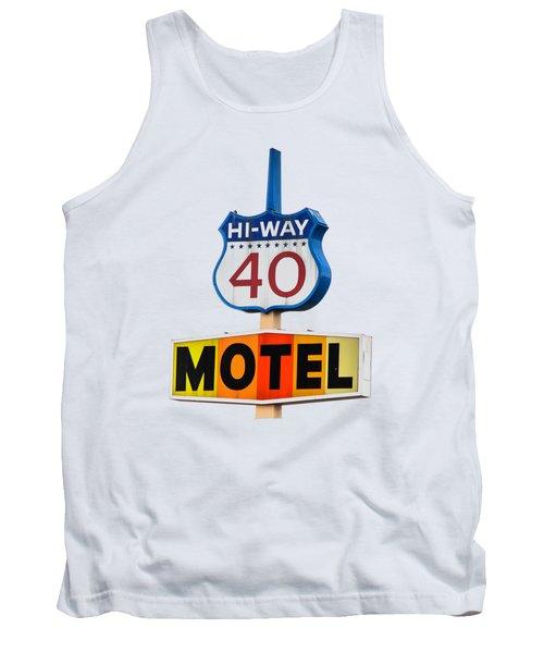 Hi-way 40 Motel Tank Top by Rick Mosher