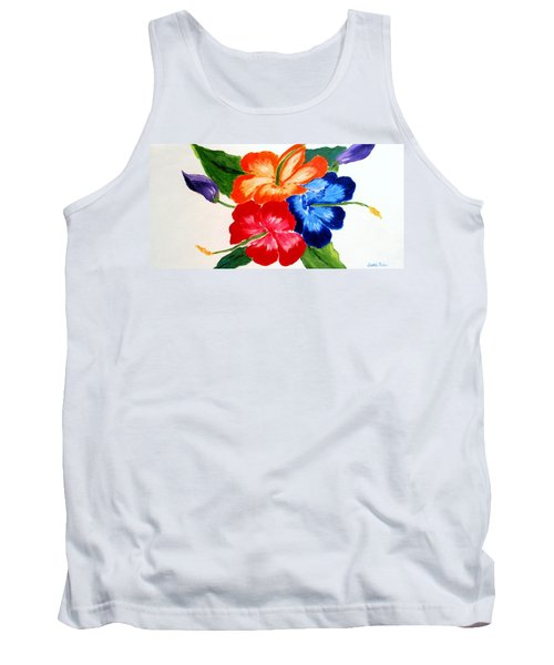 Tank Top featuring the painting Hibiscus by Jamie Frier