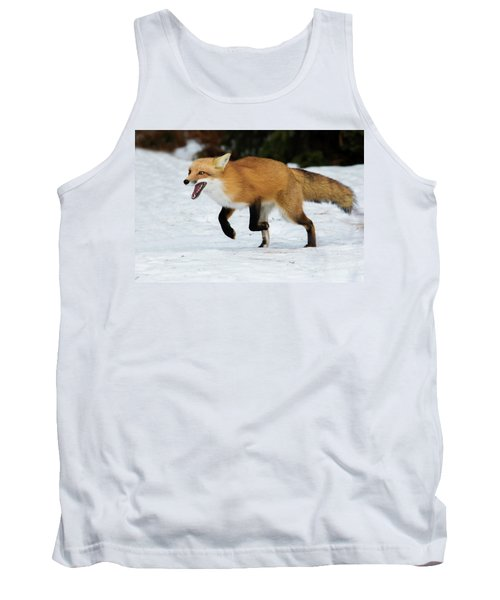 Tank Top featuring the photograph High Speed Fox by Mircea Costina Photography