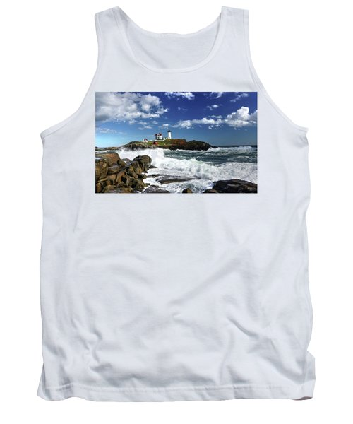 High Surf At Nubble Light Tank Top