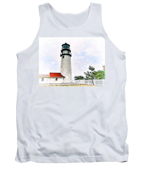 Tank Top featuring the photograph Highland Lighthouse Cape Cod by Marianne Campolongo