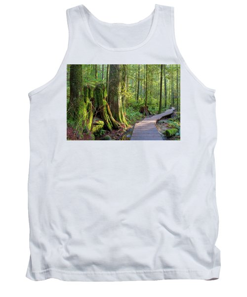 Hiking Trail Through Forest In Lynn Canyon Park Tank Top