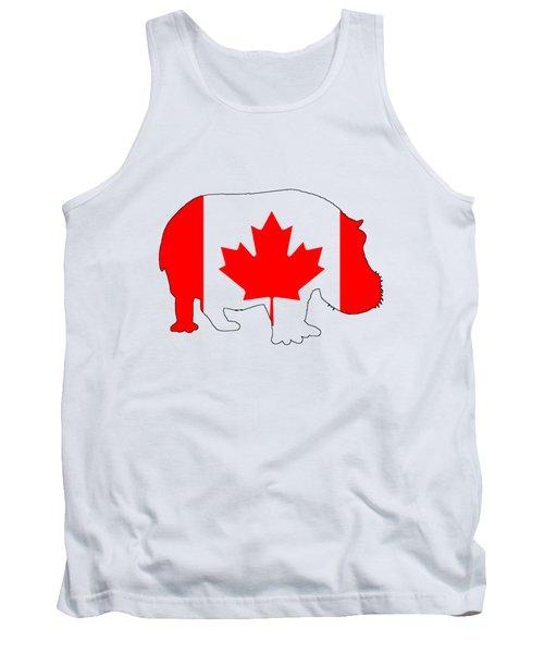 Hippopotamus Canada Tank Top by Mordax Furittus