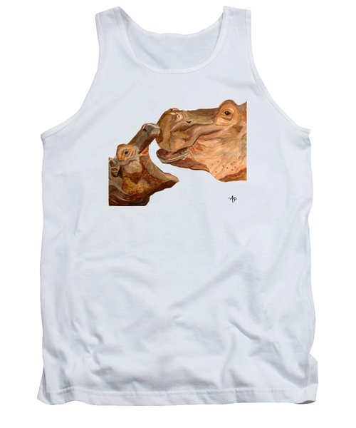 Hippos Tank Top by Angeles M Pomata