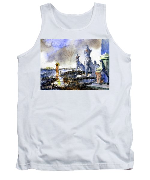 His And Hers Temples Tank Top by Randy Sprout