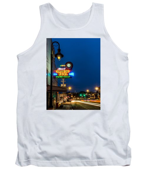 Historic Almond Roca Co. During Blue Hour Tank Top