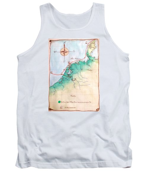 Tank Top featuring the painting Magna Frisia- Frisian Kingdom by Annemeet Hasidi- van der Leij