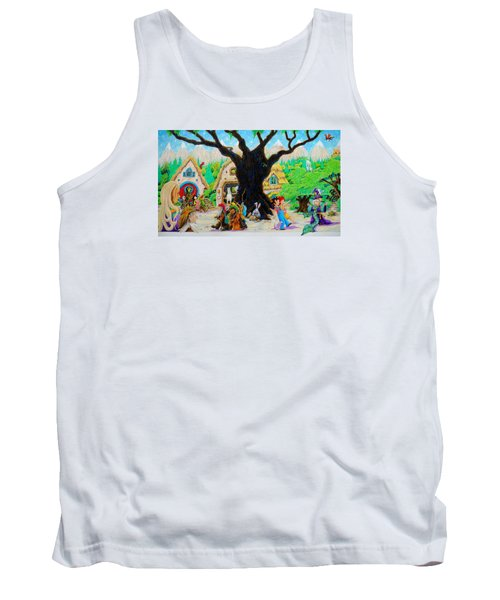 Tank Top featuring the painting Hobbit Land by Matt Konar