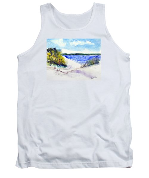 Tank Top featuring the painting Hole In The Cove by Joan Hartenstein
