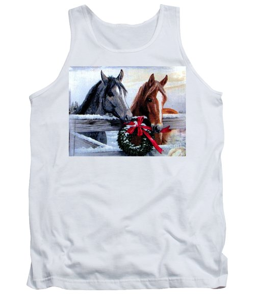 Tank Top featuring the photograph Holiday Barnyard by Judyann Matthews