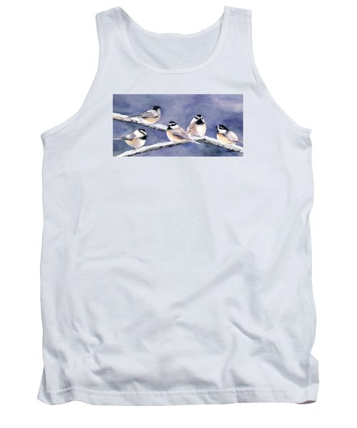 Holiday Chickadees Tank Top