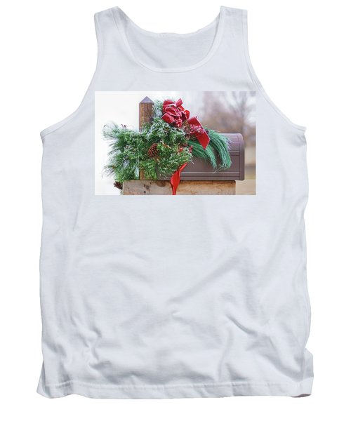 Tank Top featuring the photograph Holiday Mail by Nikolyn McDonald