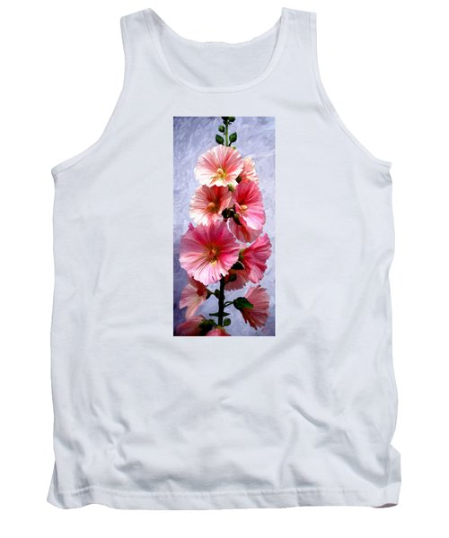 Tank Top featuring the painting Hollyhocks by James Shepherd