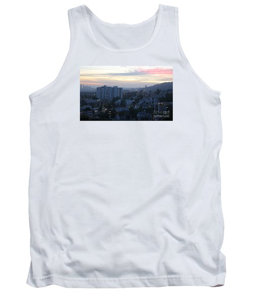Tank Top featuring the photograph Hollywood Sunset by Cheryl Del Toro