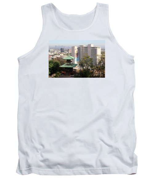 Tank Top featuring the photograph Hollywood View From Japanese Gardens by Cheryl Del Toro