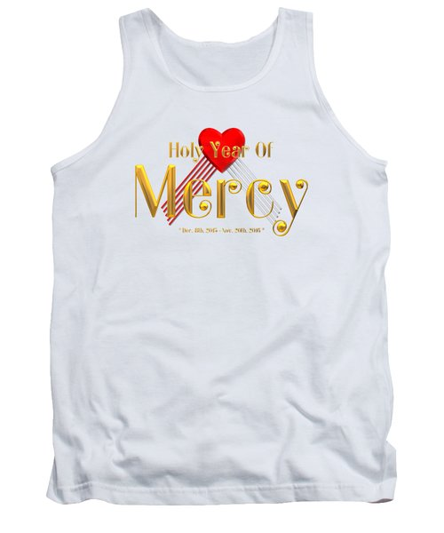 Holy Year Of Mercy Tank Top by Rose Santuci-Sofranko