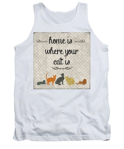 Home Is Where Your Cat Is-jp3040 Tank Top