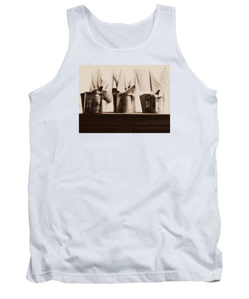 Tank Top featuring the photograph Honeybee Smokers by Kristine Nora