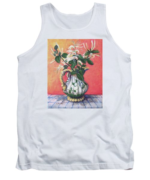 Tank Top featuring the painting Honeysuckle by Laura Aceto