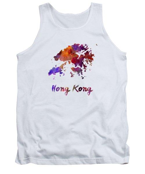 Hong Kong In Watercolor Tank Top