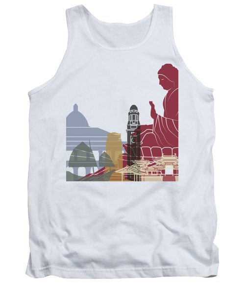 Hong Kong Skyline Poster Tank Top by Pablo Romero
