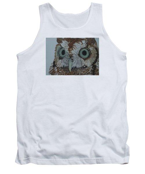Hooty Who? - Screech Owl Detail Tank Top