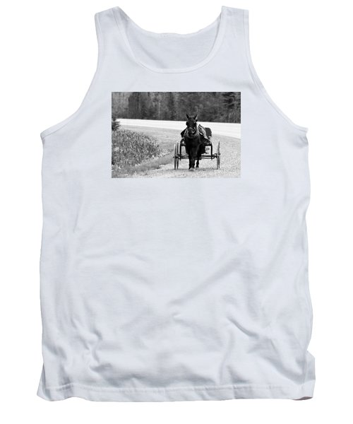 Horse And Buggy Tank Top by Marjorie Imbeau
