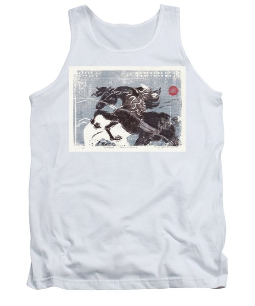 Horse And Red Sun Tank Top
