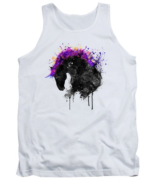 Horse Head Watercolor Silhouette Tank Top