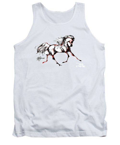 Horse In Extended Trot Tank Top