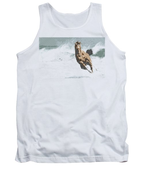 Horse In The Storm - Parallel Hatching Tank Top
