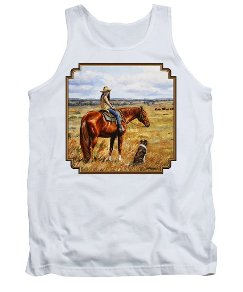 Horse Painting - Waiting For Dad Tank Top